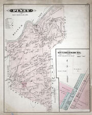 1877 Map of Piney Township Clarion County Pennsylvania Oil Wells