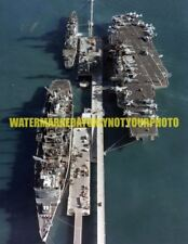 USN USS Coral Sea CV-43 Color Photo Military Navy CGN-26 USS Seattle AOE 3