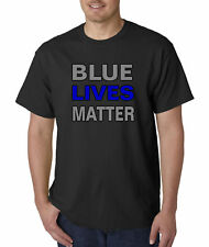 New Way 738 - Unisex T-Shirt Blue Lives Matter Law Enforcement Police Cops