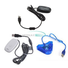 USB 2.0 Gaming Receiver-Controller Adapter PC Wireless White/Black for Xbox 360