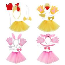 Kids Animal Costume Set Ears Tail Bow Tie Glove Skirt Cosplay Party Fancy Dress