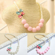 Beautiful Girls Children Necklace Cute Bow-knot New Gift Pearl Jewelry Fashion