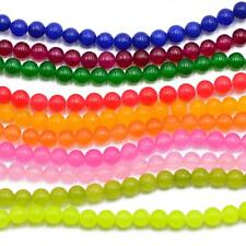 "6mm Round Jade Stone Loose Beads For Jewelry Making 15"" Wholesale Beads"