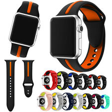 Silicone Bracelet Watchband Sports Band Strap For Apple Watch Series 1/2 38/42mm