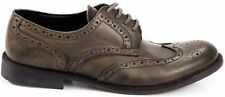 Scarpa Uomo Mocassino Grigio Pelle Trussardi Shoes Men Grey Leather