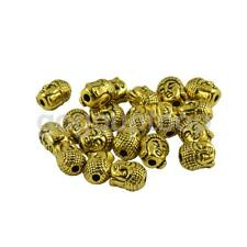 20pcs 3D Buddha Beads Spacer Spiritual Jewelry Making DIY Accessories