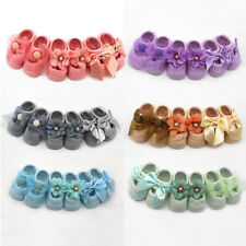 3 Pair Newborn Baby Soft Cotton Toddler Lace Floral Solid Color Skidproof Socks
