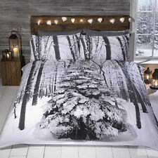 Christmas Winter Woodland Sparkle Duvet Cover and Pillow Case Set