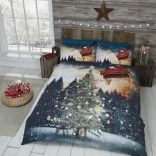 Northern Light Christmas Tree Duvet Cover and Pillow Case Set