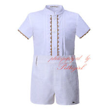 Baby Boy Shirt and Shorts Set Gentleman Kids Party Wedding Outfit Summer Clothes