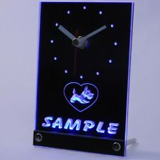 tncvj-tm Personalized Old Fashioned Scottie Dog Home Pet Neon Led Table Clock