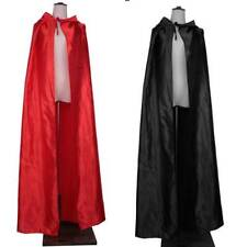 Adults' Hooded Cloak Gothic Devil Cape Costume Medieval Witch Wizard Fancy Dress