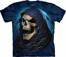 NEW The Mountain Reaper Last Laugh Skull Adult T-Shirt 100% Cotton--Clearance
