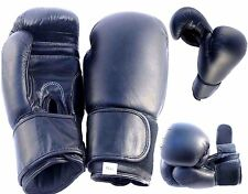 Black Boxing Gloves Punch Bag Kick Fight Gym Punch Training Leather Gloves