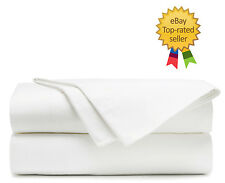 100% Egyptian Cotton Solid Bed Sheet Set 1000 Thread Count Sateen 4 Piece White