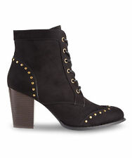 Joe Browns Womens High Heeled Ankle Boot with Punk studded detail
