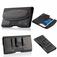 Leather Holster Belt Clip Carrying Case Horizontal Pouch For Iphone/Samsung/LG