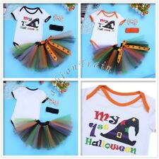 My 1st Halloween Infant Baby Girls Outfits Set Romper Tutu Skirt Headband Dress