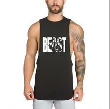 Fitness Bodybuilding Man Tank Tops Vest Cotton Summer Clothing Gyms Clothing