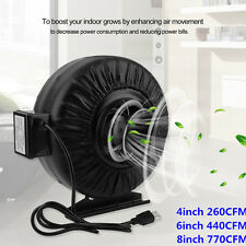 "Strong CFM 4"" 6"" 8"" Inch Inline Fan Hydroponics Exhaust Fan Duct Cooling Fan WIN"