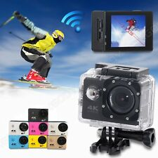 2'' HD 4K WiFi Waterpoof Dash Cam Camcorder Action Helmet Video Sports Camera DV