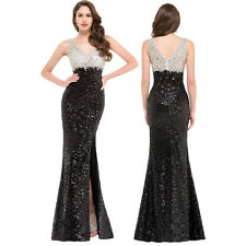 Long Sequined Elegant Bridemaid Formal Dress Evening Party  Ball Gown Prom Dress