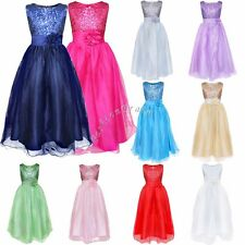 Flower Girl Kid Ball Gown Formal Party Princess Wedding Pageant Bridesmaid Dress