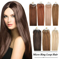 18~22inch Grade 8A 100s 50g Remy Human Micro Ring Loop Tipped Hair Extensions