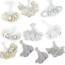 500 Pcs White Paper Jewelry Label Merchandise Price Tags With Tie String
