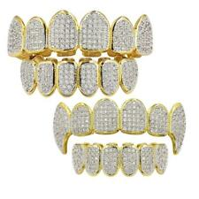 18K Gold Plated Grills Set Hip Hop Grills Top Bottom Bling Mouth Teeth Caps Gift