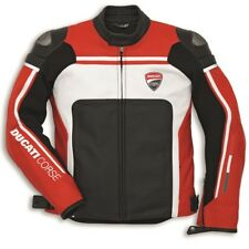 Ducati Dainese CORSE ´14 Leather Jacket Leather Jacket Red White NEW