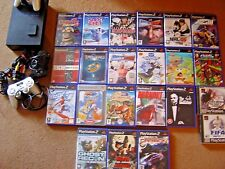 PS2 ( Sony Playstation 2 )Console & loads of GAMES controllers memory card leads