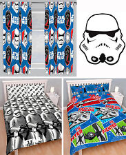 """Star Wars Double Duvet Bedding Quilt Cover Curtains 66""""x72"""" Shaped Rug 4 Choices"""