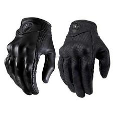 US Touch Screen Motorcycle Leather Gloves Bicycle Riding Racing Protective Armor