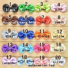 1/5/10PCS Double Embroidery Sequin Glitter Bowknot Bow Ties Hair Shoes Accessory