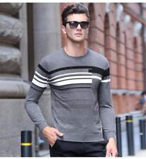 New Fashion Striped O-neck Winter Full Sleeve Sweater For Men