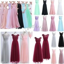 Women's Bridesmaid Long Dress Prom Evening Party Ball Cocktail Maxi Dress 8-20