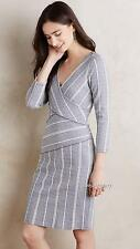 NEW Anthropologie Maeve Wrapped Stripe Column Dress  Size XS-M-L