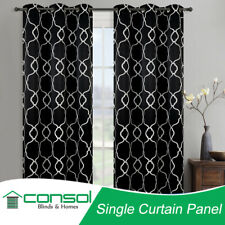 Single Panel Eyelet Ready Made BLOCKOUT Curtain With Pattern from 140cm-300cm