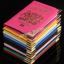 UK and European Passport Holder Protector Cover Wallet PU Leather
