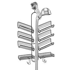 Organizer hose shower caddy for shampoo soap shelve razors and loofahs hanging