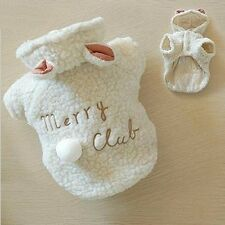 Fashion Pet Costume Small Dog Clothes Coat White Sheep Puppy Hoodie Warm Clothin