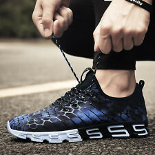 Mens Fashion Sport Running Shoes Walking Fitness Gym Runners Mesh Sneakers Navy