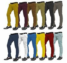 Mens Designer Trousers Chinos Stylish Skinny Slim Fit Jeans All Waist Sizes