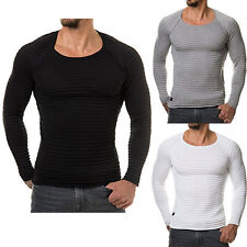 Long Sleeve Casual Loose Tops Blouse Sweater O-Neck knitted T-Shirt Fashion Men