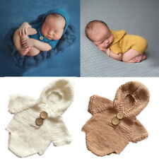 Newborn Baby Girl Boy Crochet Knit Costume Romper Photo Photography Prop Outfit