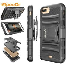 For iPhone 7 / 7 Plus Shockproof Rugged Armor Hard Case Cover With Belt Holster
