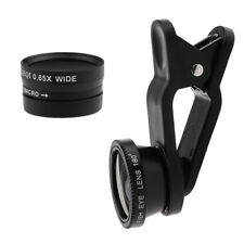 3in 1 Wide Angle+Macro+Fisheye Clip Phone Lens for Samsung S6 iPhone 6s Plus