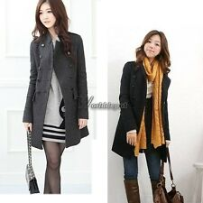 New Korea Slim Fit Women Fashion Coat stand-up Collar Double-breasted WT8803