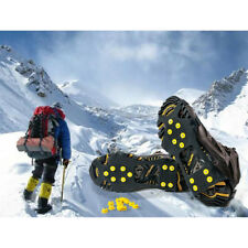 Snow Ice Cleats Anti-Slip Shoes Covers Studded Boot Traction Spike Crampons New